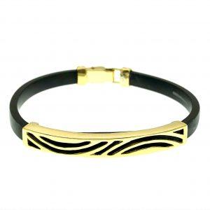 rubber met goud armband
