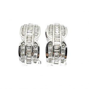 18 karaat oorbellen vol gezet met diamanten