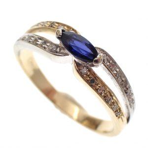 dames ring met saffier goud