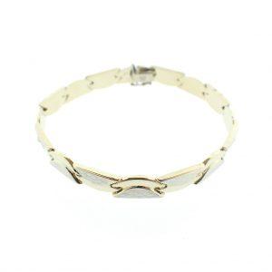bicolor gouden dames armband